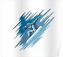 Jumping snowboarder Poster