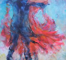 Ballroom Dancers In Hold - Dance Art Gallery by Ballet Dance-Artist