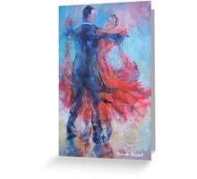 Ballroom Dancers In Hold - Dance Art Gallery Greeting Card