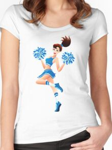 Young cheerleader Women's Fitted Scoop T-Shirt