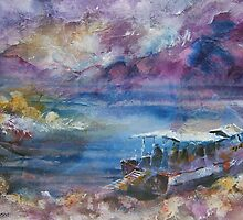 End Of The Day - Boats Art Gallery by Ballet Dance-Artist