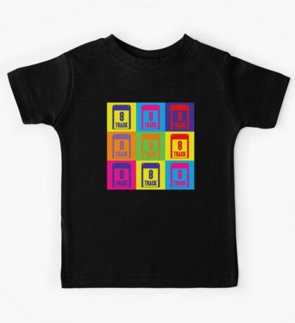 8 Track Pop Art T-Shirt Kids Tee