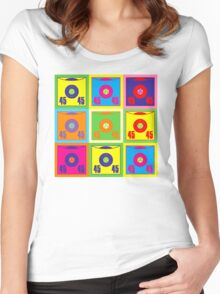 45 Record Pop Art Women's Fitted Scoop T-Shirt