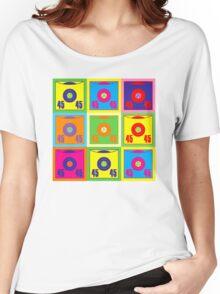 45 Record Pop Art Women's Relaxed Fit T-Shirt