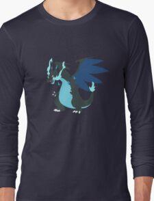 Mega-Charizard X Minimalist Long Sleeve T-Shirt