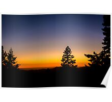 Sunset in the Sequoia Poster