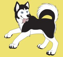 Husky (Black and White) Kids Clothes