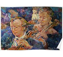 Cellists In Orchestra - Music Art Gallery Poster