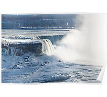 Niagara Falls In Winter Poster