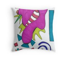 Barney's Evil Twin Throw Pillow