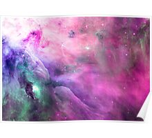 Orion Nebula [Pink Clouds] | Galaxy Mathematix Poster