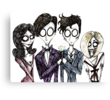 Tim Burton's Doctor Who Canvas Print