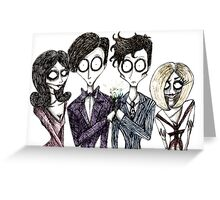 Tim Burton's Doctor Who Greeting Card