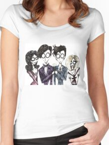 Tim Burton's Doctor Who Women's Fitted Scoop T-Shirt
