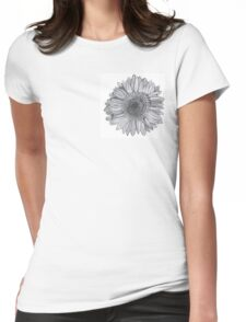 graphite flower Womens Fitted T-Shirt