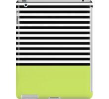 Lime Green Black White Striped Pattern iPad Case/Skin