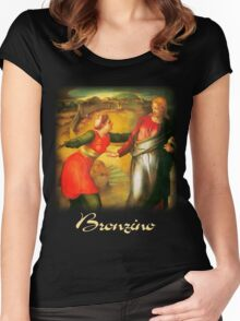 Bronzino  - Touch Me Not  Women's Fitted Scoop T-Shirt