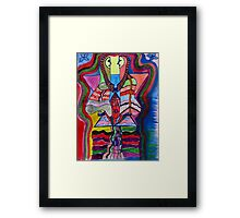 THE ALL KNOWING COUPLE Framed Print