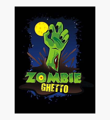 ZOMBIE GHETTO OFFICIAL LOGO DESIGN Photographic Print