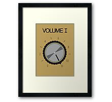 Volume I Framed Print