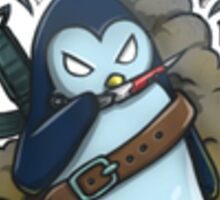 War Penguin Sticker