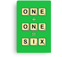 Scrabble Math Canvas Print