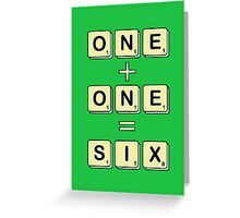 Scrabble Math Greeting Card