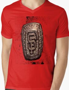 Go Giants Mens V-Neck T-Shirt