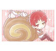 Snake Akashi and Roll Cake Photographic Print
