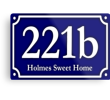 221b - Holmes Sweet Home Metal Print