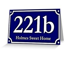 221b - Holmes Sweet Home Greeting Card