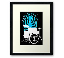 Octopus Rock! Framed Print