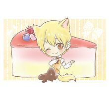 Wolf Kise and Cheesecake Photographic Print