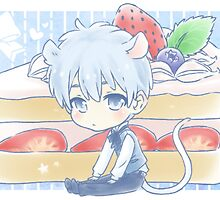 Mouse Kuroko and Strawberry Shortcake by TEAMJUSTICEink