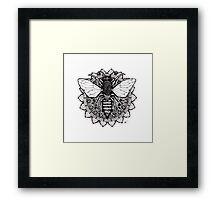 Mandala Bee Framed Print
