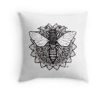 Mandala Bee Throw Pillow