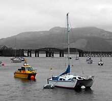 Boats Bobbing on the Briney By Barmouth Bridge by Yampimon