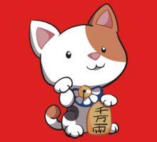 Cute Maneki Neko Beckoning Cat by Veronica Guzzardi