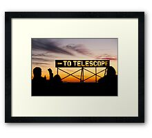 To the Telescope Framed Print