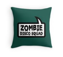 ZOMBIE DISCO SQUAD SPEECH BUBBLE by Zombie Ghetto Throw Pillow