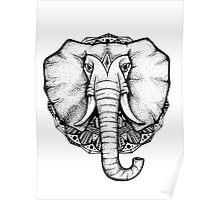 Ornate Elephant king Poster