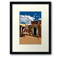 Taos Pueblo Abstract Framed Print