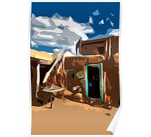 Taos Pueblo Abstract Poster