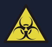 ZOMBIE APOCALYPSE HAZMAT SIGN by Zombie Ghetto Baby Tee