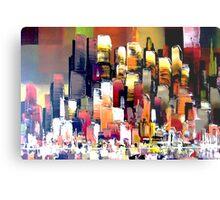 Mega City Abstract New York Metal Print