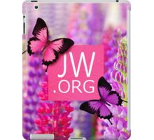 JW.ORG (Purple Flowers and Butterflies) iPad Case/Skin