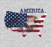 america, america flag, eagle Kids Tee