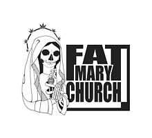 Fat Mary Church (B/W) - tablet cases by rootsofriot