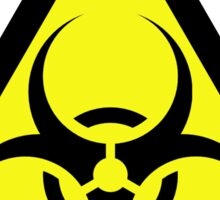 ZOMBIE APOCALYPSE HAZMAT SIGN by Zombie Ghetto Sticker