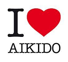 I ♥ AIKIDO Photographic Print